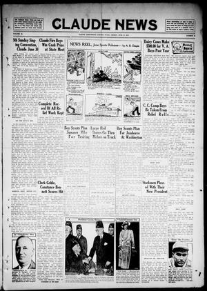Primary view of object titled 'Claude News (Claude, Tex.), Vol. 46, No. 42, Ed. 1 Friday, June 21, 1935'.