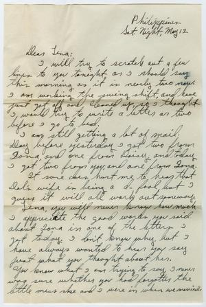 Primary view of object titled '[Letter from Beal S. Powell to Lena Lawson, May 12, 1945]'.