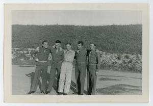 Primary view of object titled '[Five Servicemen Standing Together]'.