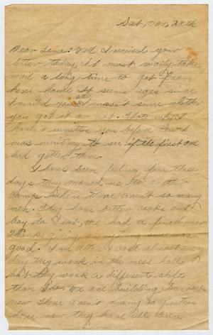 Primary view of object titled '[Letter from Dale Powell to Lena Lawson, November 28, 1942]'.