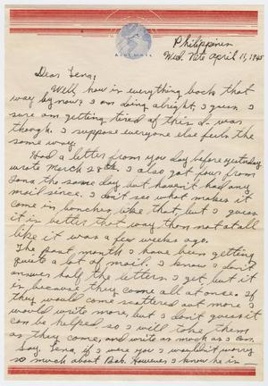Primary view of object titled '[Letter from Beal S. Powell to Lena Lawson, April 11, 1945]'.