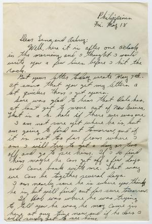 Primary view of object titled '[Letter from Beal S. Powell to Lena Lawson, May 18, 1945]'.