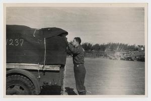 Primary view of object titled '[Soldier With a Truck]'.