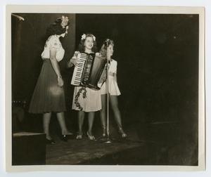 Primary view of object titled '[Photograph of Three Women Performing]'.