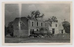 Primary view of object titled '[Tank In Front of Ruins]'.