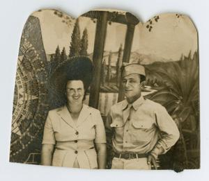 Primary view of object titled '[Photograph of Ren & Lillian Powell]'.