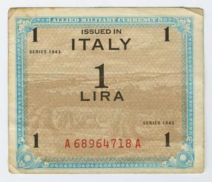 Primary view of object titled '[1 Italian Lira]'.