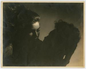 Primary view of object titled '[Photograph of Anita Russell Garmon and a Man]'.