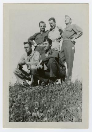 Primary view of object titled '[Photograph of Five Army Friends]'.