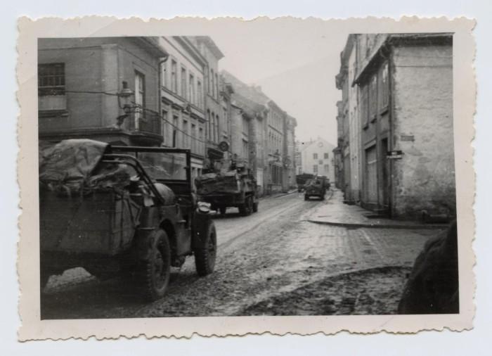 Street Scene in St  Vith, Belgium] - The Portal to Texas History