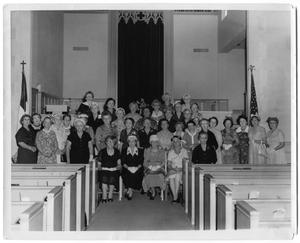 Primary view of object titled '[Members of the Loyal Women's Sunday School Class]'.