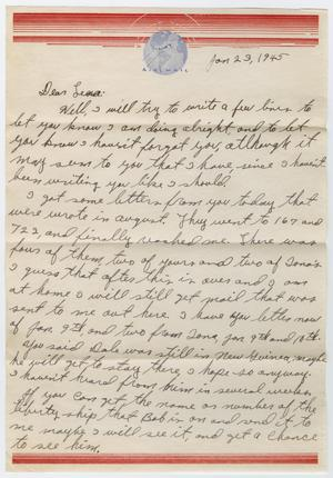 Primary view of object titled '[Letter from Beal S. Powell to Lena Lawson, January 23, 1945]'.