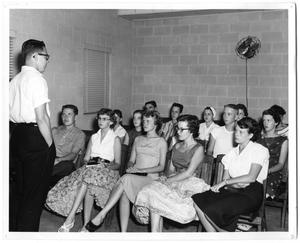 Primary view of object titled '[First Christian Church Summer Youth Meeting]'.
