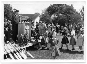 Primary view of object titled '[First Christian Church Groundbreaking Ceremony]'.