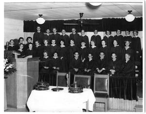 Primary view of object titled '[First Christian Church Youth Choir 1954]'.