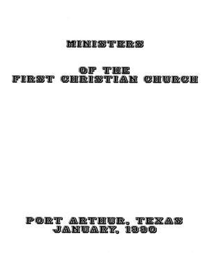 Ministers of the First Christian Church, Port Arthur, Texas