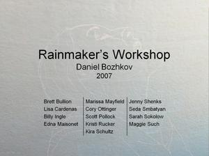 "Primary view of object titled '[""Rainmaker's Workshop"" by Daniel Bozhkov, 2007]'."