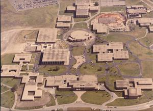 Primary view of object titled 'Aerial View of Tarrant County Junior College South Campus'.