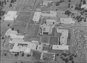Primary view of object titled 'Aerial View of Tarrant County Junior College Northeast Campus'.
