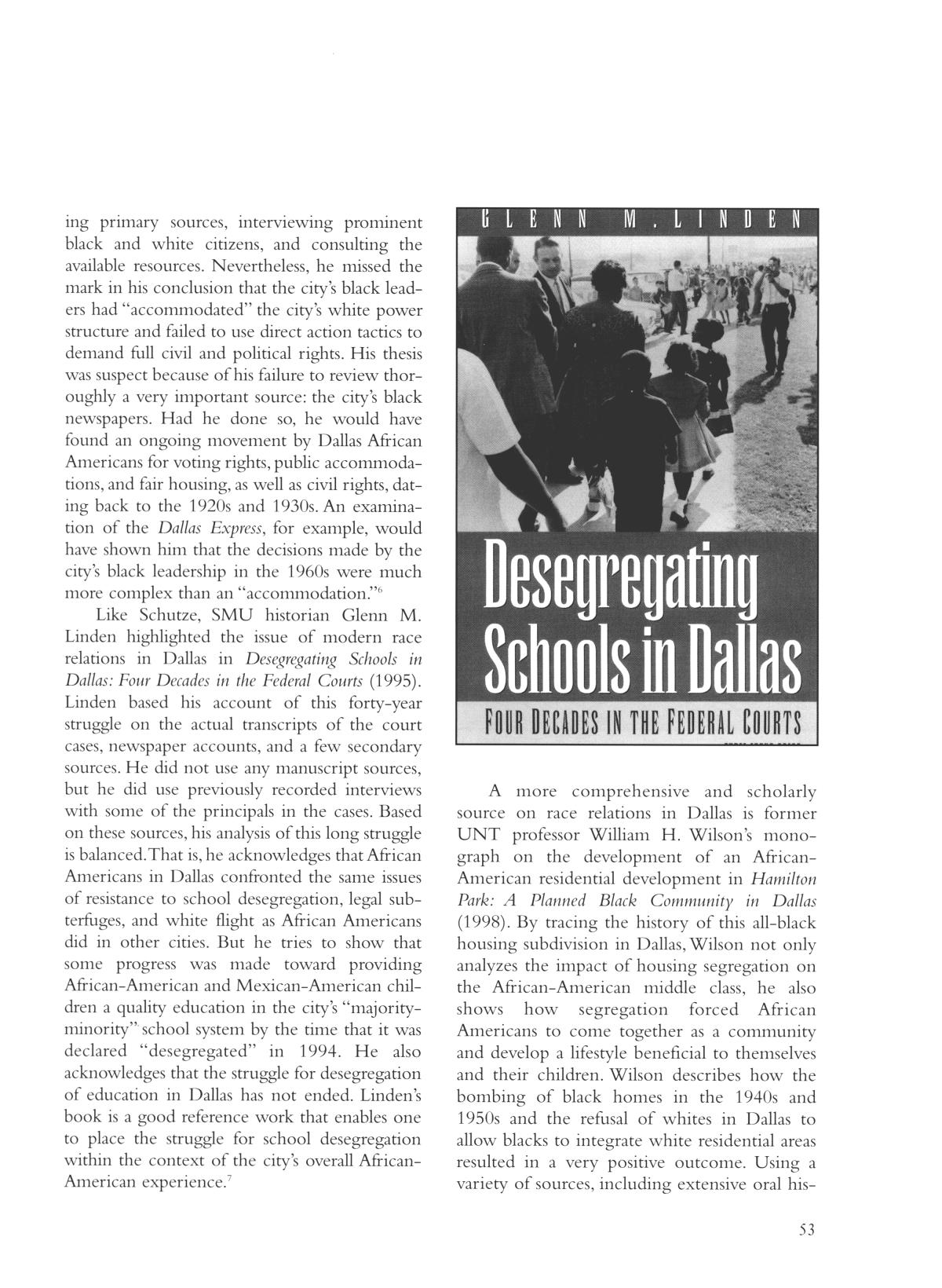 Legacies: A History Journal for Dallas and North Central Texas, Volume 16, Number 01, Spring, 2004                                                                                                      53