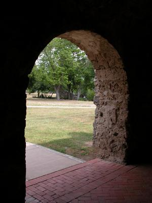 Primary view of object titled 'Arched doorway, Mission Concepción'.