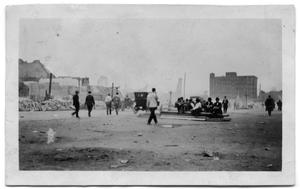 Primary view of object titled '[Photo of the Paris, Texas fire of 1916]'.