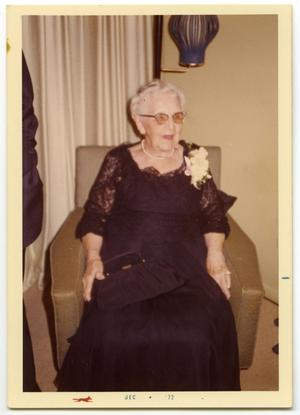 Primary view of object titled '[Carolyn Street Scott at the Scrivner/Dickson Wedding Reception]'.