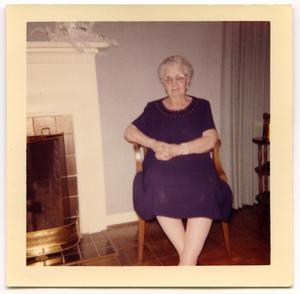 Primary view of object titled '[Carolyn Street Scott by fireplace, 1954]'.