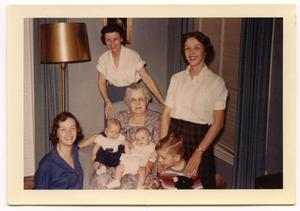 Primary view of object titled '[Four generations with Carolyn Scott, 1958.  ]'.