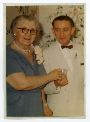 Primary view of object titled '[Carolyn Scott with Bob Richards]'.