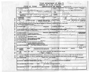 [Death certificate of Thomas McGee Scott]