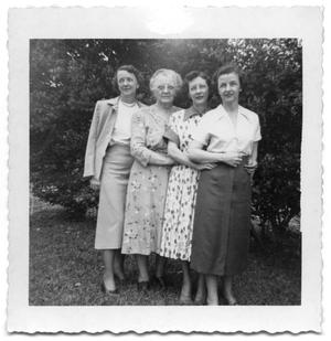 Primary view of object titled '[Helen, Carolyn, Eleanor, and Betty]'.