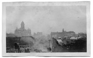 Primary view of object titled '[Ruins in Paris, Texas, after the 1916 fire]'.