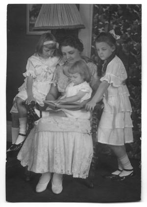Primary view of object titled '[Carolyn Scott with daughters]'.