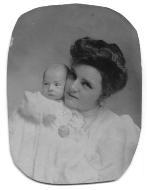 Primary view of object titled '[Carolyn Scott with baby Charles Howell]'.