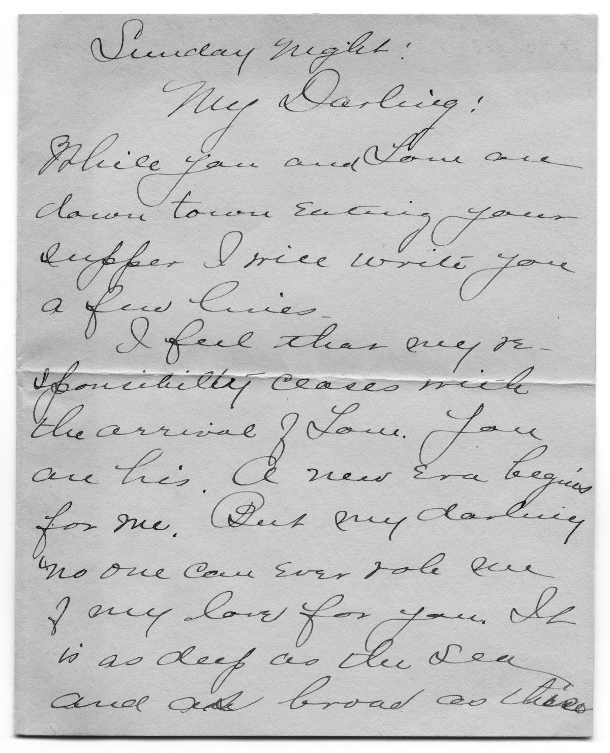 [Letter to Carolyn Street Scott from her aunt Caroline McGuire, November 1904]                                                                                                      [Sequence #]: 1 of 4