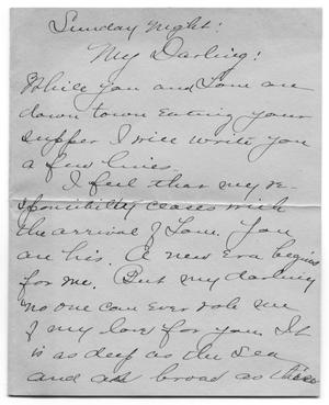Primary view of [Letter to Carolyn Street Scott from her aunt Caroline McGuire, November 1904]