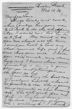 Primary view of object titled '[Letter to Tom Scott from Caroline McGuire]'.