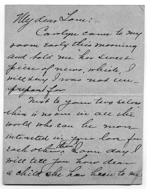 Primary view of object titled '[Letter from Caroline McGuire to Tom McGee Scott, March 18, 1904]'.