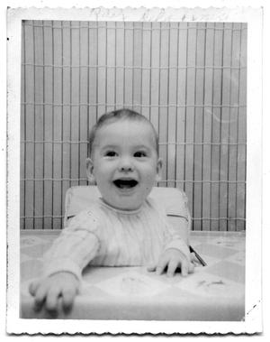 Primary view of object titled 'Ray Delphenis as a baby'.