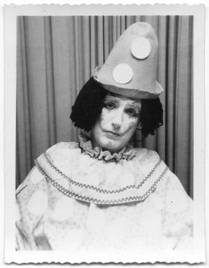 Primary view of object titled 'Unknown person dressed as a clown'.