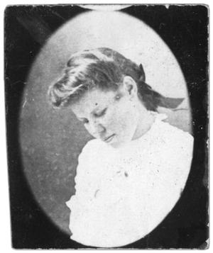 Primary view of object titled 'Portrait of an unidentified girl'.
