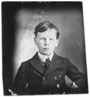 Primary view of object titled 'Portrait of a boy in a suit'.
