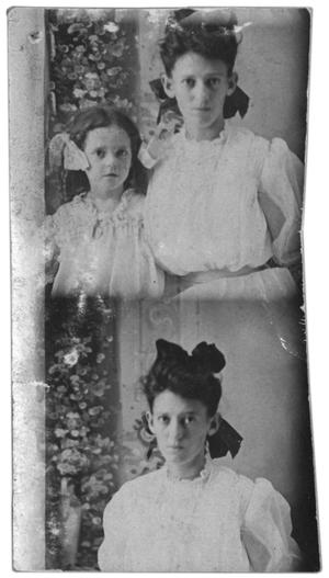 Primary view of object titled 'Double portrait of two girls'.