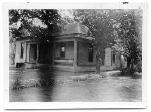 Primary view of object titled 'A house and its surrounding property'.