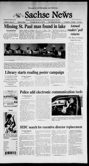 Primary view of object titled 'The Sachse News (Sachse, Tex.), Vol. 5, No. 51, Ed. 1 Thursday, January 14, 2010'.