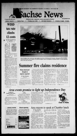 Primary view of object titled 'The Sachse News (Sachse, Tex.), Vol. 4, No. 23, Ed. 1 Thursday, July 3, 2008'.