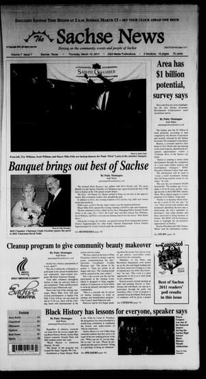 Primary view of object titled 'The Sachse News (Sachse, Tex.), Vol. 7, No. 7, Ed. 1 Thursday, March 10, 2011'.