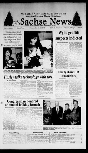 Primary view of object titled 'The Sachse News (Sachse, Tex.), Vol. 2, No. 47, Ed. 1 Thursday, December 21, 2006'.