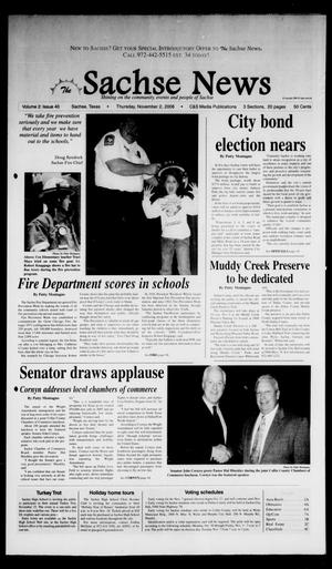 Primary view of object titled 'The Sachse News (Sachse, Tex.), Vol. 2, No. 40, Ed. 1 Thursday, November 2, 2006'.